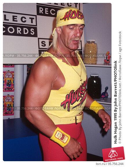 Hulk Hogan 1995 By John Barrett/PHOTOlink. Редакционное фото, фотограф Photo By John Barrett/PHOTOlink.net / age Fotostock / Фотобанк Лори