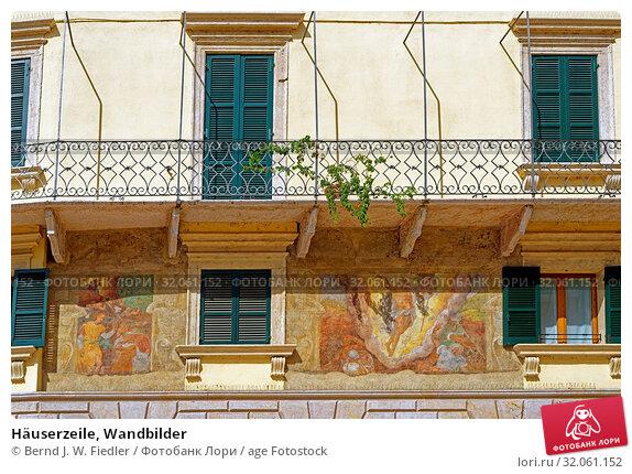 Häuserzeile, Wandbilder. Стоковое фото, фотограф Bernd J. W. Fiedler / age Fotostock / Фотобанк Лори