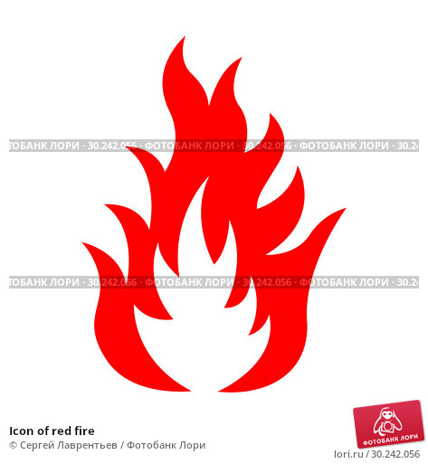 Купить «Icon of red fire», иллюстрация № 30242056 (c) Сергей Лаврентьев / Фотобанк Лори