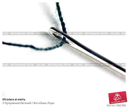 Купить «Иголка и нить», фото № 242592, снято 26 апреля 2018 г. (c) Куприянов Евгений / Фотобанк Лори