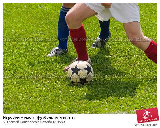 Купить «Игровой момент футбольного матча», фото № 321304, снято 12 июня 2008 г. (c) Алексей Пантелеев / Фотобанк Лори