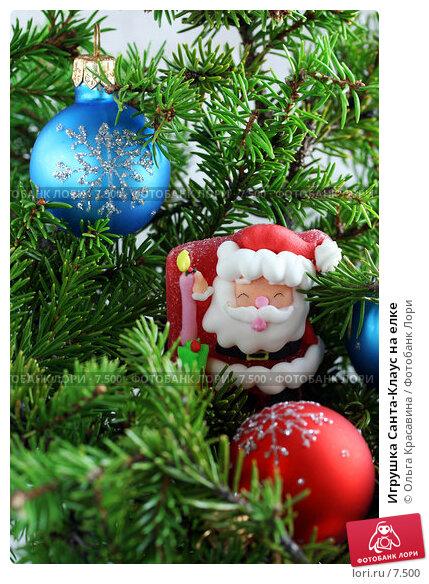 Игрушка Санта-Клаус на елке, фото № 7500, снято 23 августа 2006 г. (c) Ольга Красавина / Фотобанк Лори