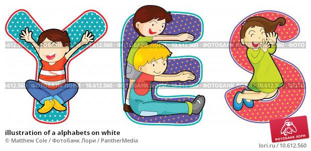 illustration of a alphabets on white. Стоковая иллюстрация, иллюстратор Matthew Cole / PantherMedia / Фотобанк Лори