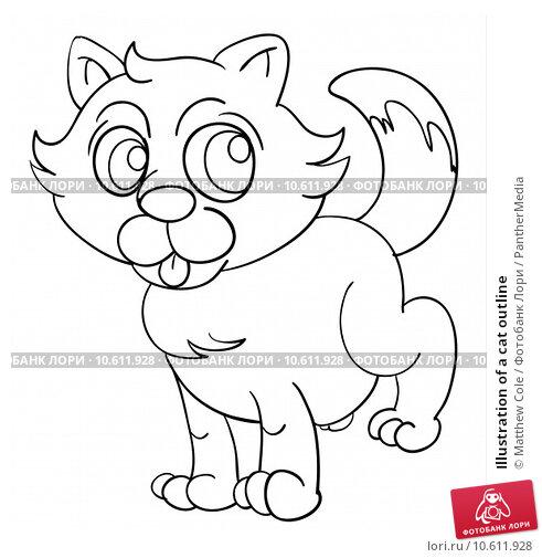 Illustration of a cat outline. Стоковая иллюстрация, иллюстратор Matthew Cole / PantherMedia / Фотобанк Лори