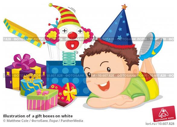 Illustration of  a gift boxes on white. Стоковая иллюстрация, иллюстратор Matthew Cole / PantherMedia / Фотобанк Лори