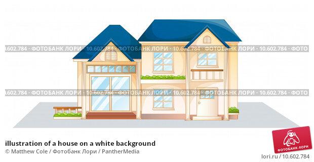 illustration of a house on a white background. Стоковая иллюстрация, иллюстратор Matthew Cole / PantherMedia / Фотобанк Лори