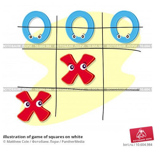 illustration of game of squares on white. Стоковая иллюстрация, иллюстратор Matthew Cole / PantherMedia / Фотобанк Лори