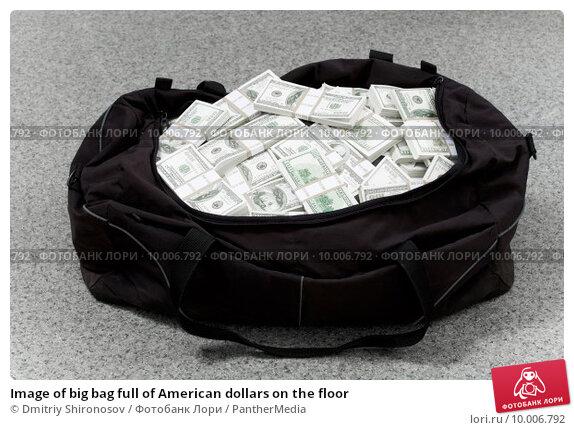Купить «Image of big bag full of American dollars on the floor», фото № 10006792, снято 21 апреля 2019 г. (c) PantherMedia / Фотобанк Лори