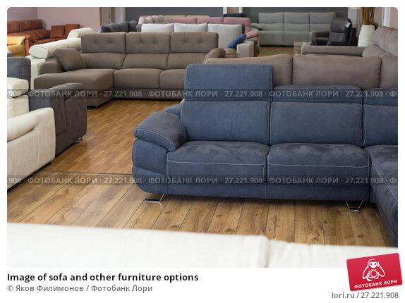 Купить «Image of sofa and other furniture options», фото № 27221908, снято 19 июня 2017 г. (c) Яков Филимонов / Фотобанк Лори