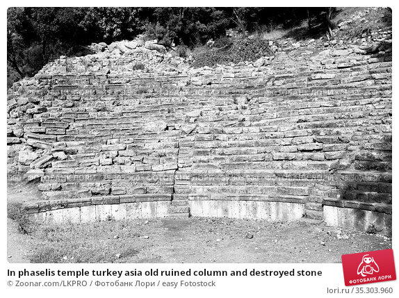 In phaselis temple turkey asia old ruined column and destroyed stone. Стоковое фото, фотограф Zoonar.com/LKPRO / easy Fotostock / Фотобанк Лори