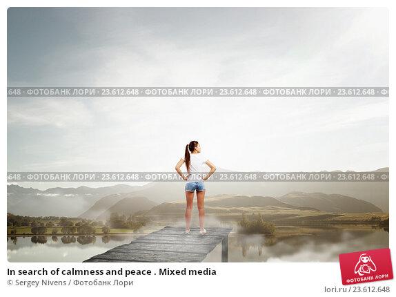 Купить «In search of calmness and peace . Mixed media», фото № 23612648, снято 24 марта 2014 г. (c) Sergey Nivens / Фотобанк Лори
