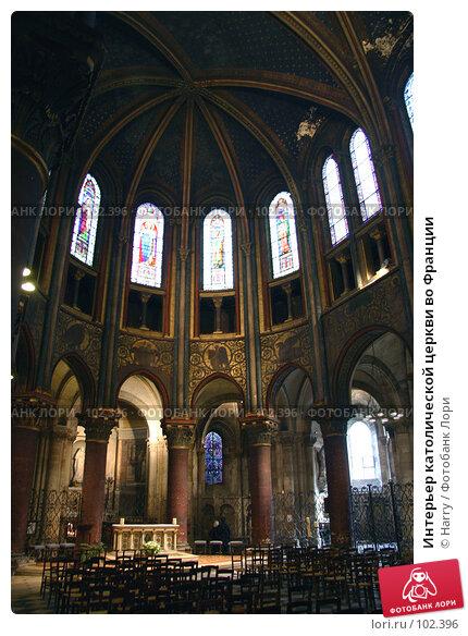 Интерьер католической церкви во Франции, фото № 102396, снято 19 января 2017 г. (c) Harry / Фотобанк Лори