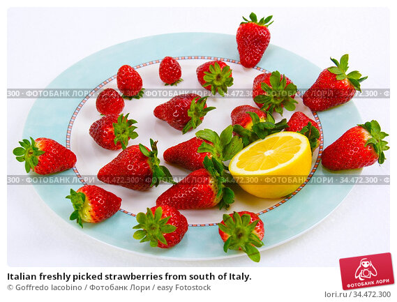 Italian freshly picked strawberries from south of Italy. Стоковое фото, фотограф Goffredo Iacobino / easy Fotostock / Фотобанк Лори