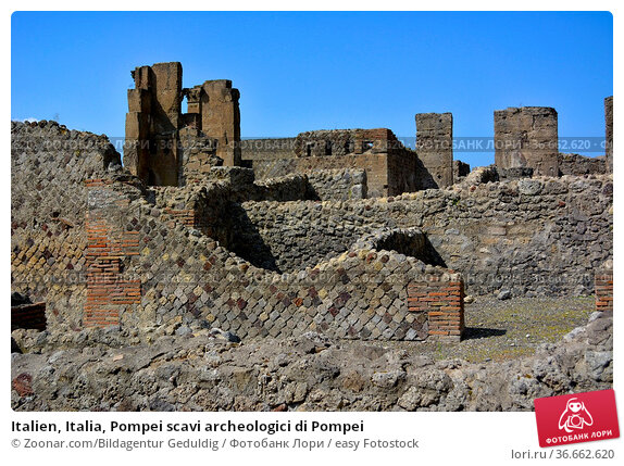 Italien, Italia, Pompei scavi archeologici di Pompei. Стоковое фото, фотограф Zoonar.com/Bildagentur Geduldig / easy Fotostock / Фотобанк Лори