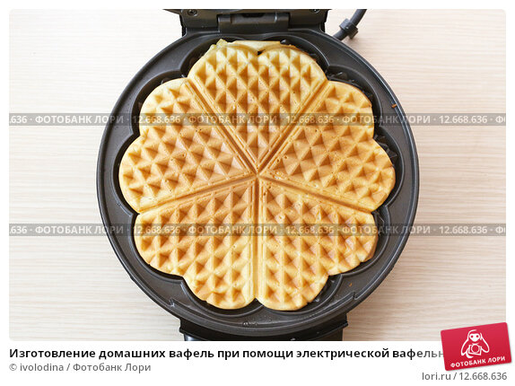 Вафли в электрической вафельнице рецепт с фото