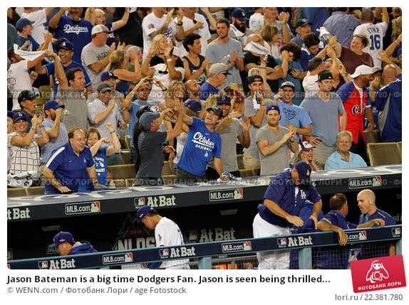 Купить «Jason Bateman is a big time Dodgers Fan. Jason is seen being thrilled after the Los Angeles Dodgers defeated the New York Mets by the final score of 5...», фото № 22381780, снято 10 октября 2015 г. (c) age Fotostock / Фотобанк Лори