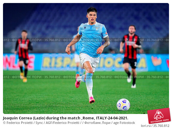 Joaquin Correa (Lazio) during the match ,Rome, ITALY-24-04-2021. Редакционное фото, фотограф Federico Proietti / Sync / AGF/Federico Proietti / / age Fotostock / Фотобанк Лори