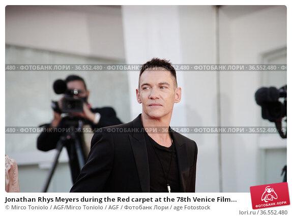 Jonathan Rhys Meyers during the Red carpet at the 78th Venice Film... Редакционное фото, фотограф Mirco Toniolo / AGF/Mirco Toniolo / AGF / age Fotostock / Фотобанк Лори