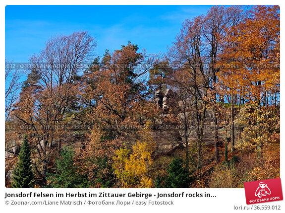 Jonsdorf Felsen im Herbst im Zittauer Gebirge - Jonsdorf rocks in... Стоковое фото, фотограф Zoonar.com/Liane Matrisch / easy Fotostock / Фотобанк Лори
