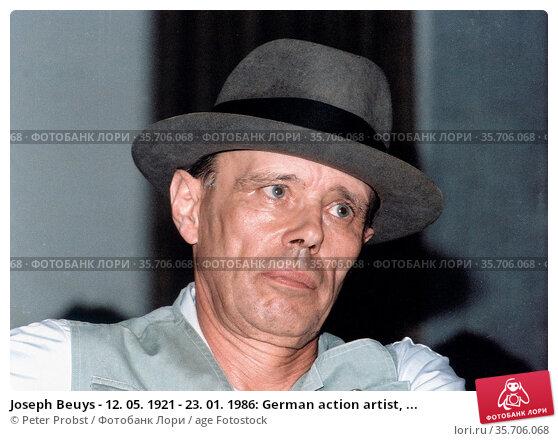 Joseph Beuys - 12. 05. 1921 - 23. 01. 1986: German action artist, ... Редакционное фото, фотограф Peter Probst / age Fotostock / Фотобанк Лори