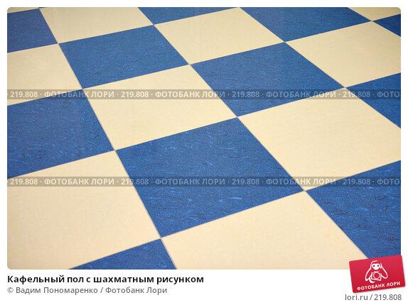 Купить «Кафельный пол с шахматным рисунком», фото № 219808, снято 1 марта 2008 г. (c) Вадим Пономаренко / Фотобанк Лори