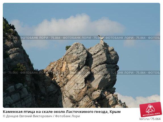 Каменная птица на скале около Ласточкиного гнезда, Крым, фото № 75064, снято 8 августа 2007 г. (c) Донцов Евгений Викторович / Фотобанк Лори