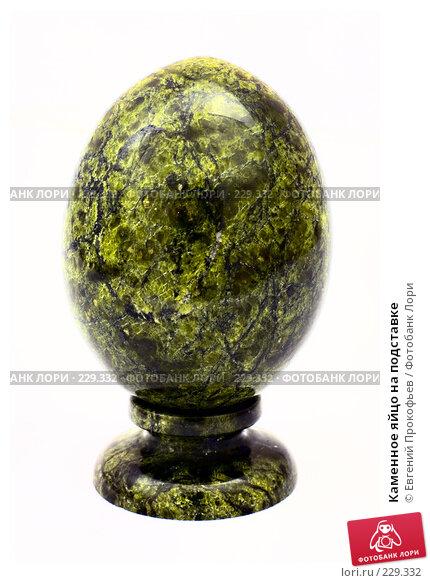 Каменное яйцо на подставке, фото № 229332, снято 18 марта 2008 г. (c) Евгений Прокофьев / Фотобанк Лори