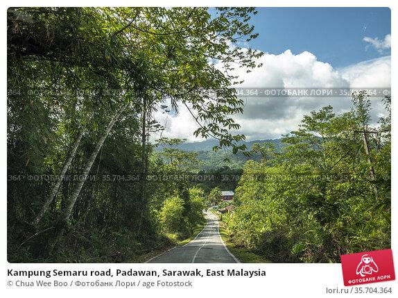Kampung Semaru road, Padawan, Sarawak, East Malaysia. Стоковое фото, фотограф Chua Wee Boo / age Fotostock / Фотобанк Лори