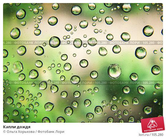 Капли дождя, фото № 105280, снято 6 декабря 2016 г. (c) Ольга Хорькова / Фотобанк Лори