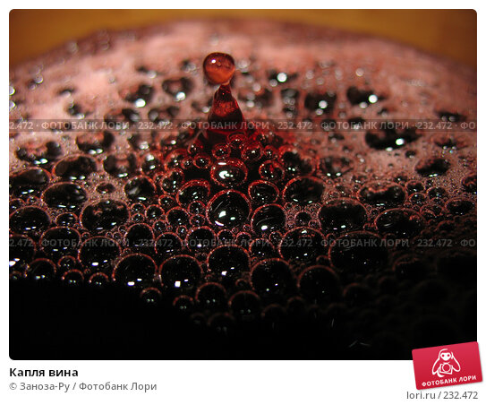 Купить «Капля вина», фото № 232472, снято 22 марта 2008 г. (c) Заноза-Ру / Фотобанк Лори