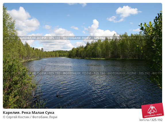 Карелия. Река Малая Суна, фото № 325192, снято 13 июня 2008 г. (c) Сергей Костин / Фотобанк Лори