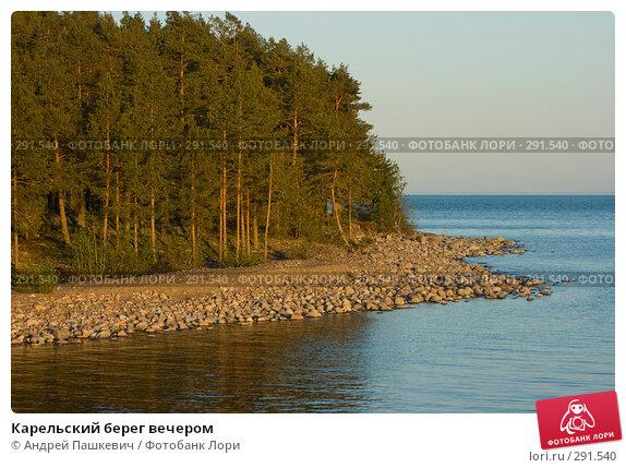 Карельский берег вечером, фото № 291540, снято 1 июня 2007 г. (c) Андрей Пашкевич / Фотобанк Лори