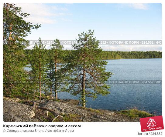 Карельский пейзаж с озером и лесом, фото № 284552, снято 29 июля 2007 г. (c) Солодовникова Елена / Фотобанк Лори