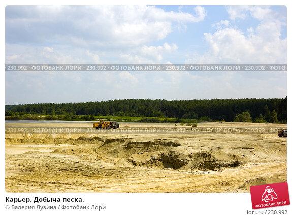 Карьер. Добыча песка., фото № 230992, снято 13 июля 2007 г. (c) Валерия Потапова / Фотобанк Лори