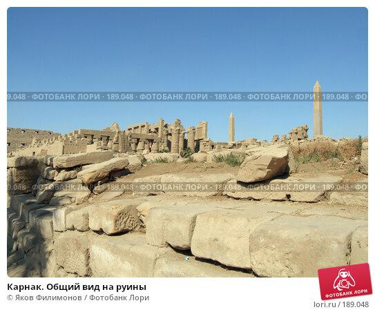 Карнак. Общий вид на руины, фото № 189048, снято 15 января 2008 г. (c) Яков Филимонов / Фотобанк Лори