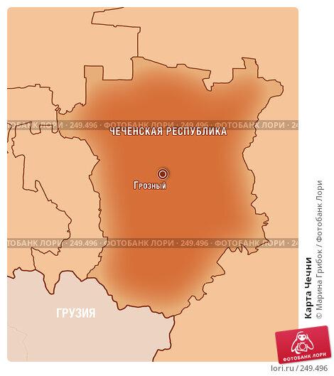 Купить «Карта Чечни», фото № 249496, снято 26 апреля 2018 г. (c) Марина Грибок / Фотобанк Лори