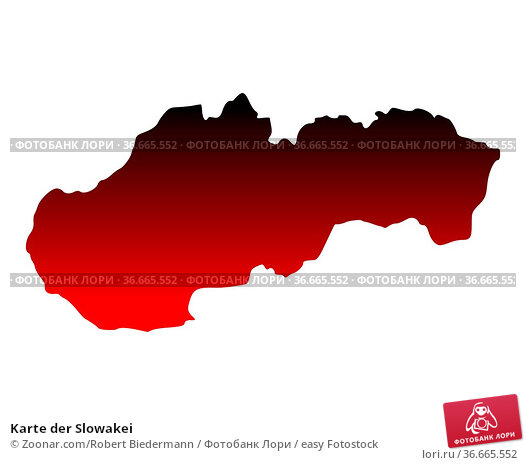 Karte der Slowakei. Стоковое фото, фотограф Zoonar.com/Robert Biedermann / easy Fotostock / Фотобанк Лори
