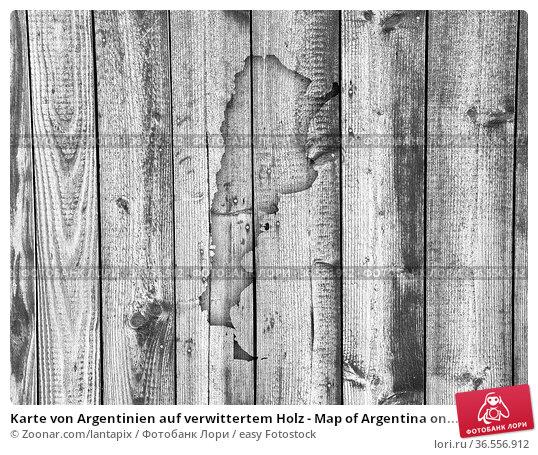 Karte von Argentinien auf verwittertem Holz - Map of Argentina on... Стоковое фото, фотограф Zoonar.com/lantapix / easy Fotostock / Фотобанк Лори