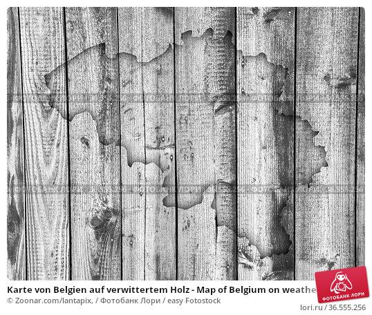 Karte von Belgien auf verwittertem Holz - Map of Belgium on weathered... Стоковое фото, фотограф Zoonar.com/lantapix, / easy Fotostock / Фотобанк Лори