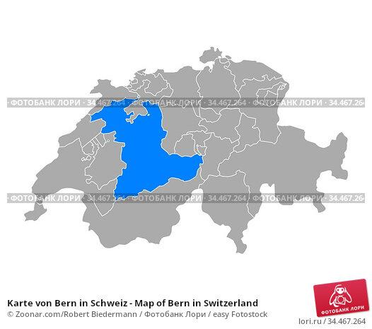 Karte von Bern in Schweiz - Map of Bern in Switzerland. Стоковое фото, фотограф Zoonar.com/Robert Biedermann / easy Fotostock / Фотобанк Лори