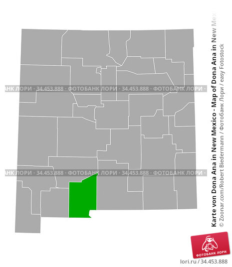 Karte von Dona Ana in New Mexico - Map of Dona Ana in New Mexico. Стоковое фото, фотограф Zoonar.com/Robert Biedermann / easy Fotostock / Фотобанк Лори