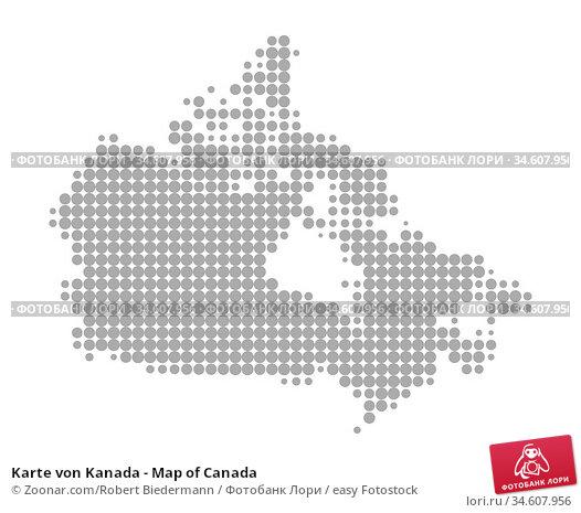 Karte von Kanada - Map of Canada. Стоковое фото, фотограф Zoonar.com/Robert Biedermann / easy Fotostock / Фотобанк Лори