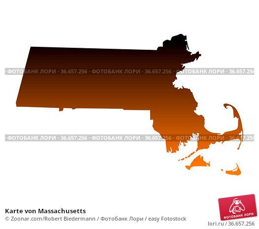 Karte von Massachusetts. Стоковое фото, фотограф Zoonar.com/Robert Biedermann / easy Fotostock / Фотобанк Лори