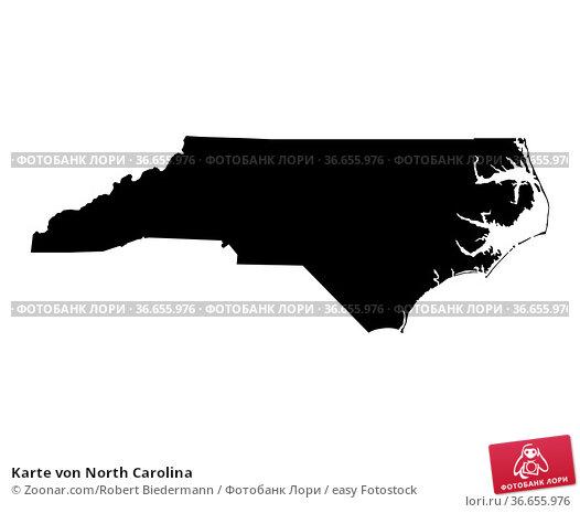 Karte von North Carolina. Стоковое фото, фотограф Zoonar.com/Robert Biedermann / easy Fotostock / Фотобанк Лори