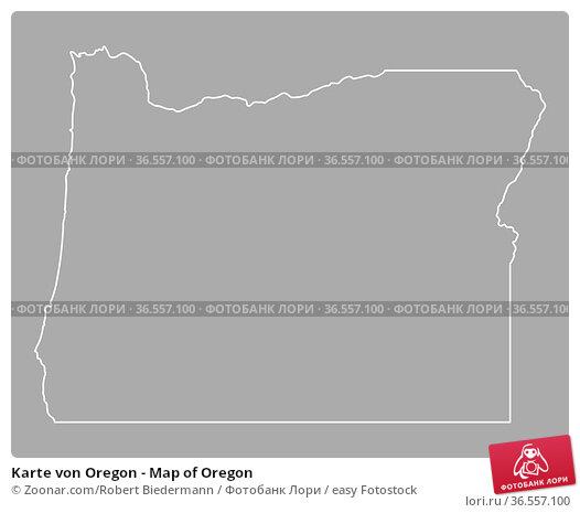 Karte von Oregon - Map of Oregon. Стоковое фото, фотограф Zoonar.com/Robert Biedermann / easy Fotostock / Фотобанк Лори