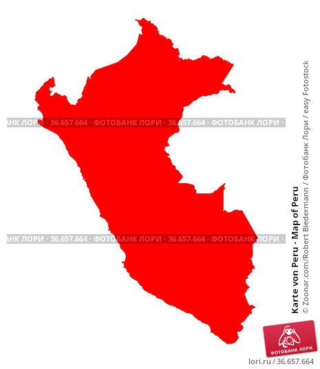 Karte von Peru - Map of Peru. Стоковое фото, фотограф Zoonar.com/Robert Biedermann / easy Fotostock / Фотобанк Лори