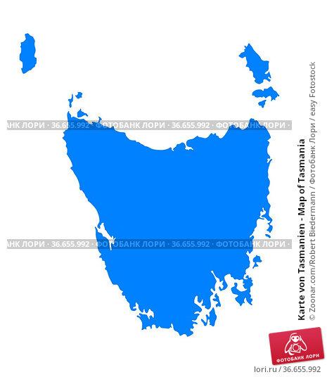 Karte von Tasmanien - Map of Tasmania. Стоковое фото, фотограф Zoonar.com/Robert Biedermann / easy Fotostock / Фотобанк Лори