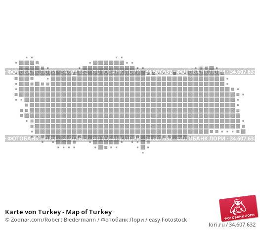 Karte von Turkey - Map of Turkey. Стоковое фото, фотограф Zoonar.com/Robert Biedermann / easy Fotostock / Фотобанк Лори