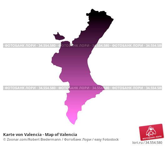 Karte von Valencia - Map of Valencia. Стоковое фото, фотограф Zoonar.com/Robert Biedermann / easy Fotostock / Фотобанк Лори