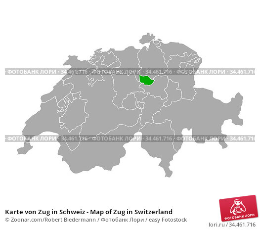 Karte von Zug in Schweiz - Map of Zug in Switzerland. Стоковое фото, фотограф Zoonar.com/Robert Biedermann / easy Fotostock / Фотобанк Лори